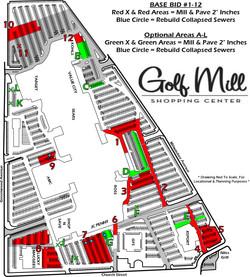 Golf Mill Paving Plan