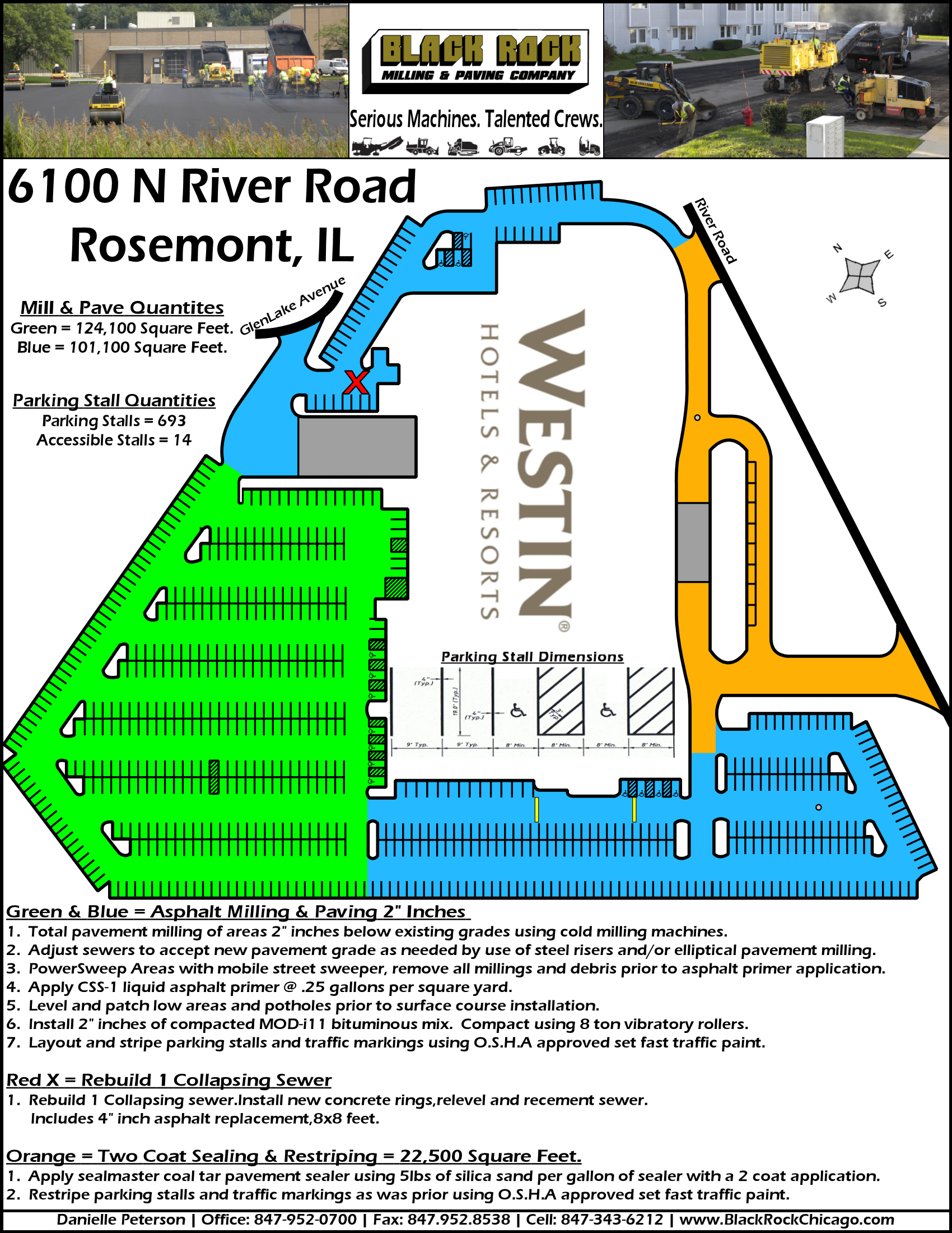 Westin Hotel Paving Plan