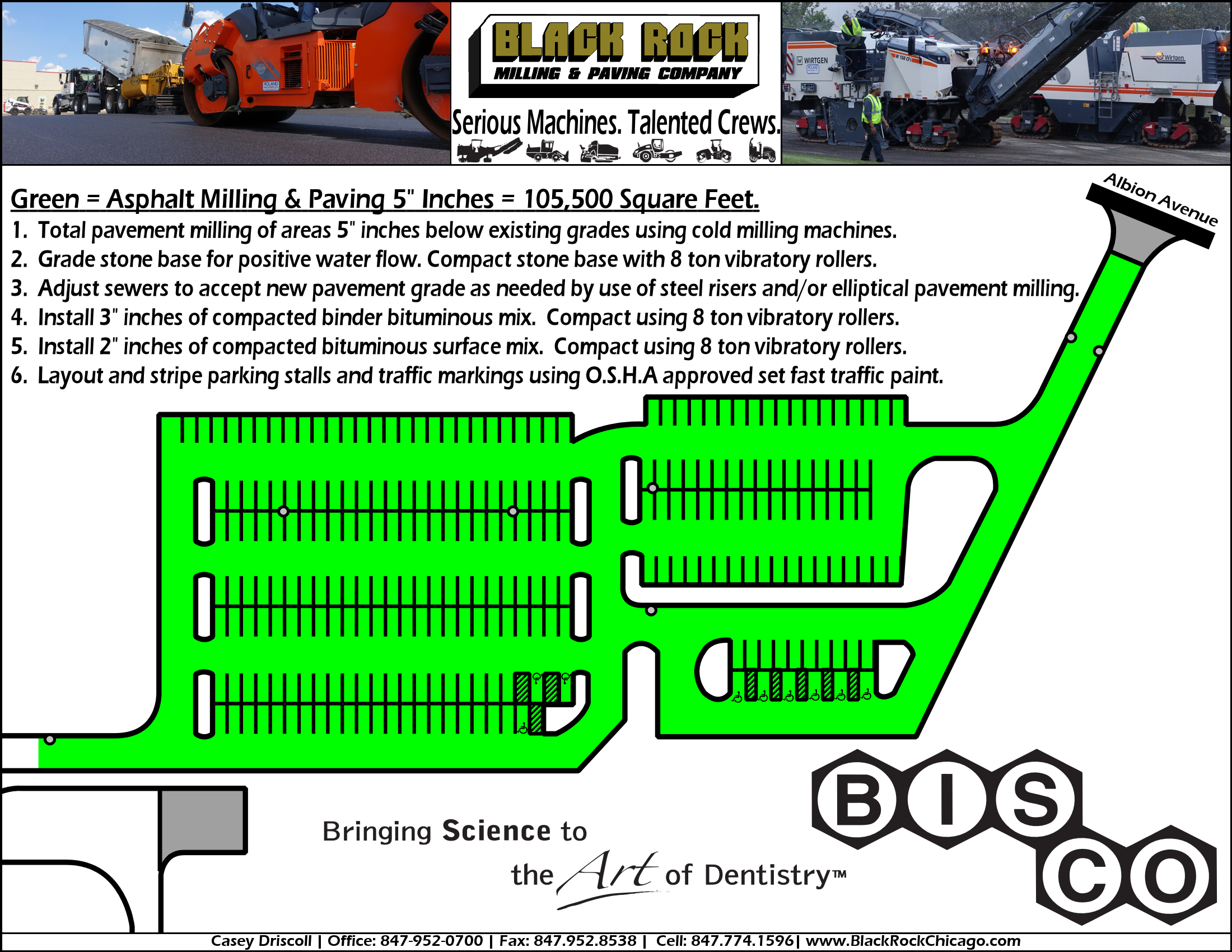 Parking Lot Plan Drawing Detailed