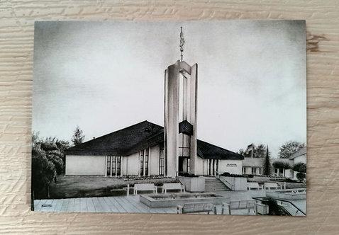 Postkarte - Freiberg Tempel schwarz/weiß