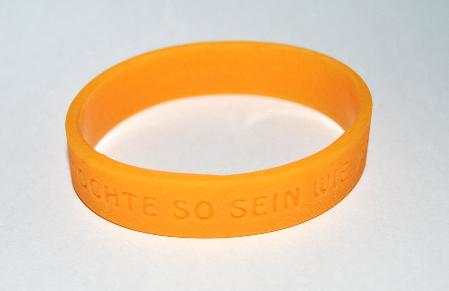 Silikon-Armband   orange  (Nr. 1009)