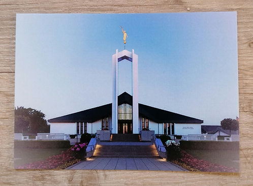 Postkarte - Freiberg Tempel Foto