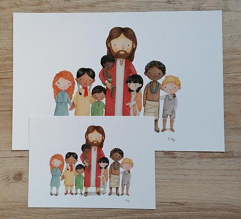 Bild - Jesus & Kinder OHNE Rahmen