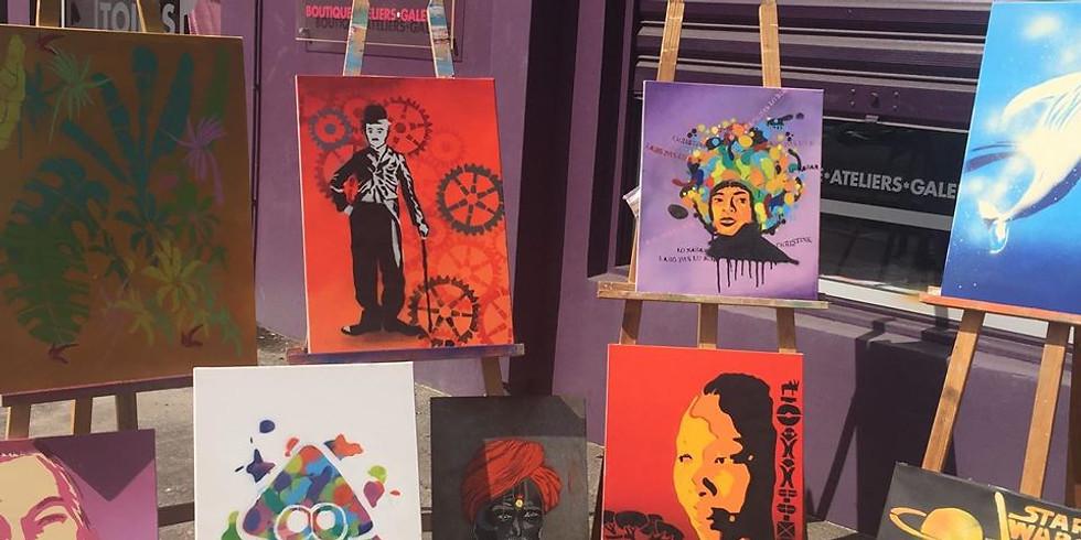 Atelier Street Art avec le street artiste OneShoz