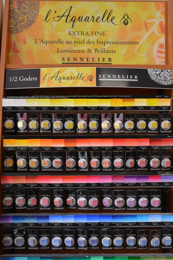Aquarelle extra fine demi-godets Sennelier