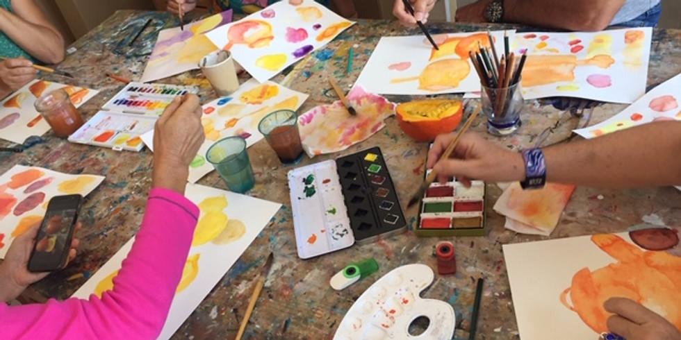 Initiation à l'aquarelle avec Kler Dardel aquarelliste les samedi aprés midi