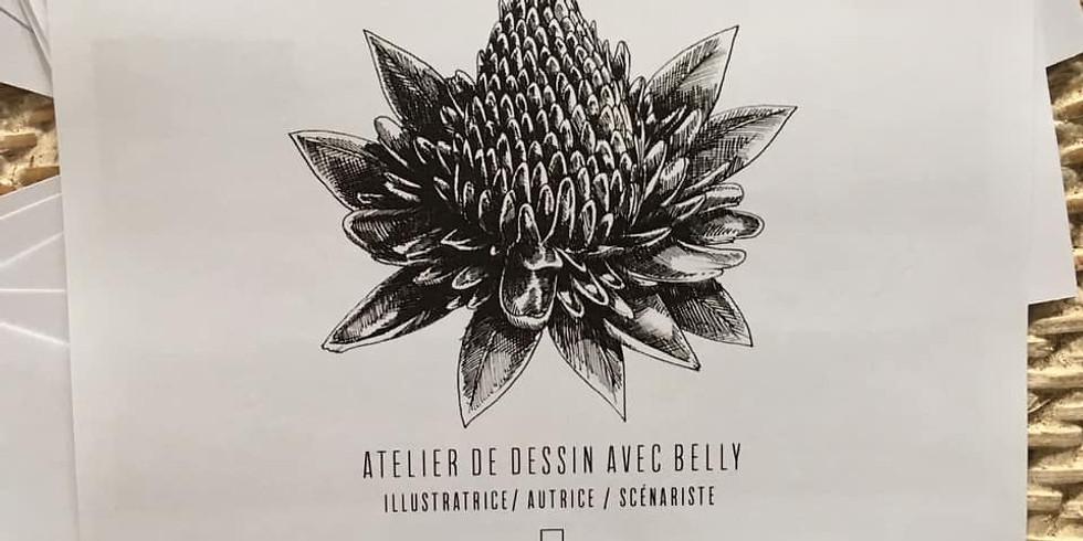 Cours de dessin avec Belly illustratrice niveau débutant (du 13 au 15 juillet)