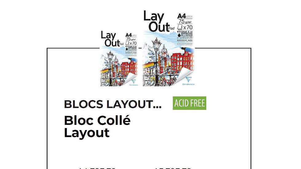 Bloc Lay Out Format A4