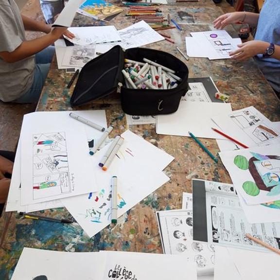 Atelier BD Manga avec Bruno Dufestin  (du 9 au 30 juin)