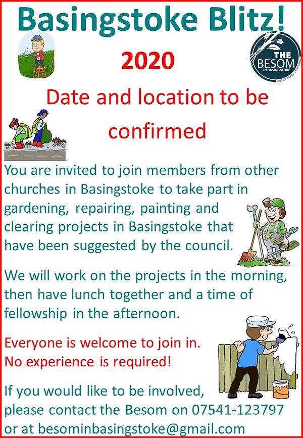 Basingstoke Blitz Poster for churches -