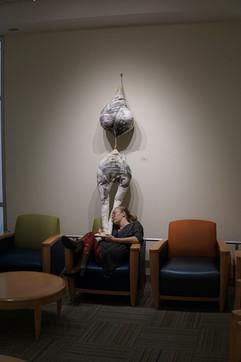Jessica Farra with her piece