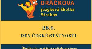 28.9. Státní svátek - školka zavřena!
