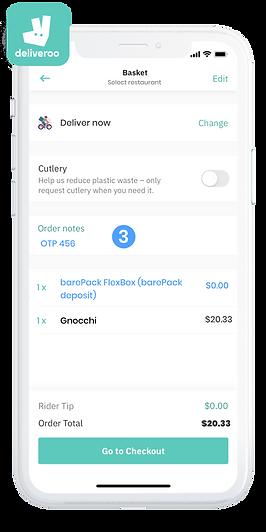 barepack x deliveroo order online sustainably
