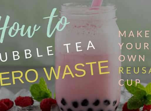 How-to bubble tea zero-waste