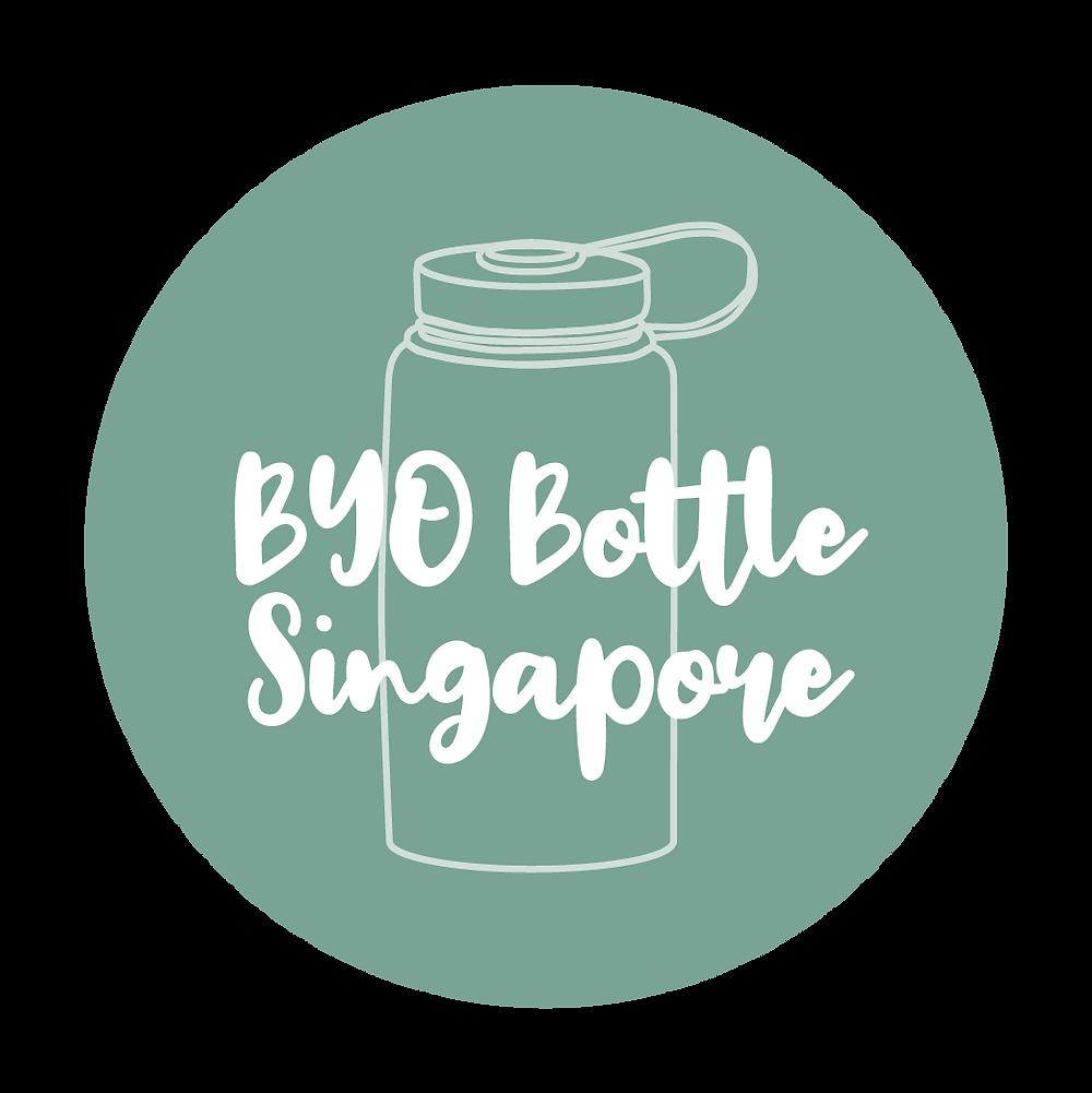 logo of BYO Bottle Singapore encourages reuse of personal bottles