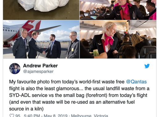 World's 1st Zero-waste flight