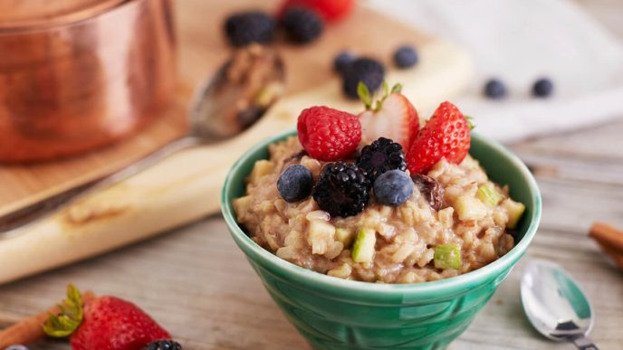 vegan brown rice pudding breakfast meal