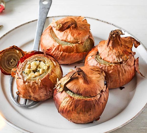 melting onion vegetarian dish