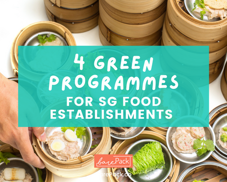 Local sustainability Programmes for green SG Food Establishments