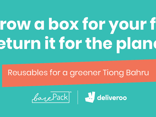 barePack x Deliveroo: sustainable food delivery @Tiong Bahru