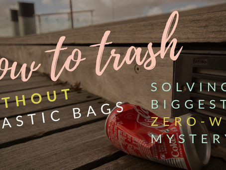 How to trash without plastic bags