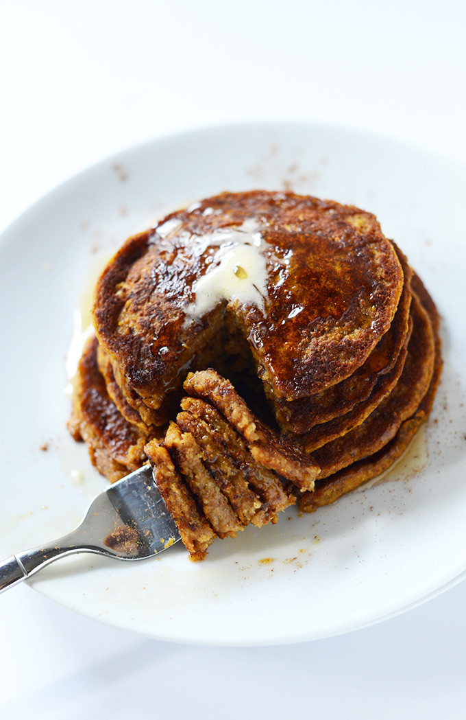 vegan pumpkin pancake easy recipe