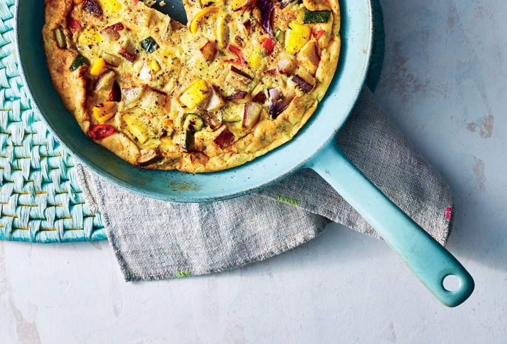 Grilled Vegetable frittata by Paige Grandjean