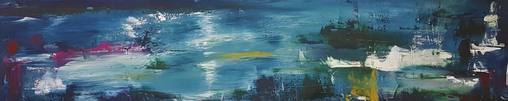 Moonlight on River