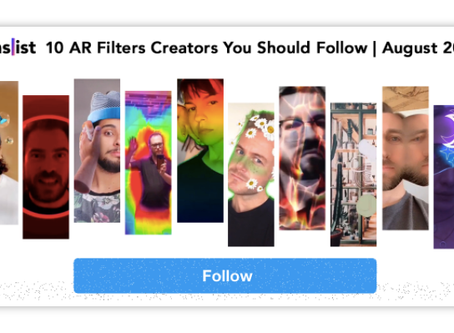 I'm listed as one of the 10 AR filter creators you should follow!