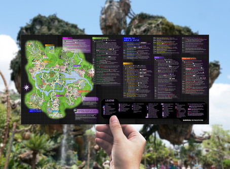Disney's Animal Kingdom Guide Map 2019 Concept