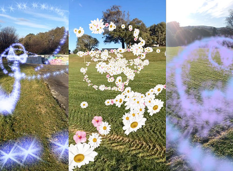 Augmented Reality Particle Stream Filters