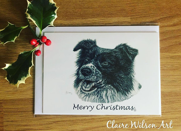 'KERRI THE COLLIE' BLANK CHRISTMAS CARDS