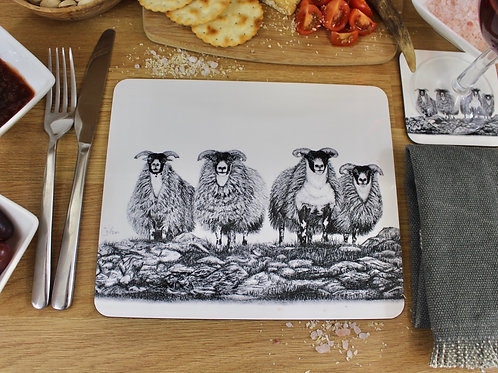 'SCOTCH ON THE ROCKS' PLACEMAT