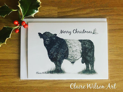 'BELTED GALLOWAY' BLANK CHRISTMAS CARDS