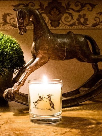 'Hare We Go Again' Round Candle Jar in A