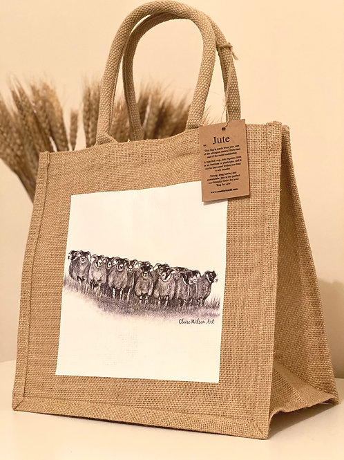'THE GATHERING' MIDI JUTE BAG