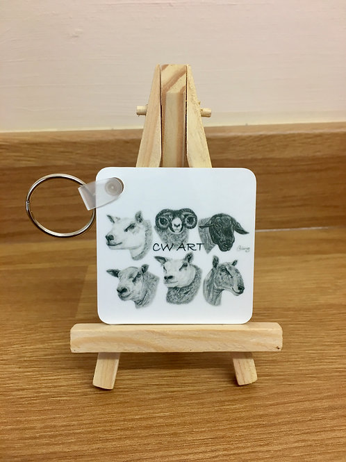 'DIFFERENT BREEDS FOR DIFFERENT NEEDS' KEYRING