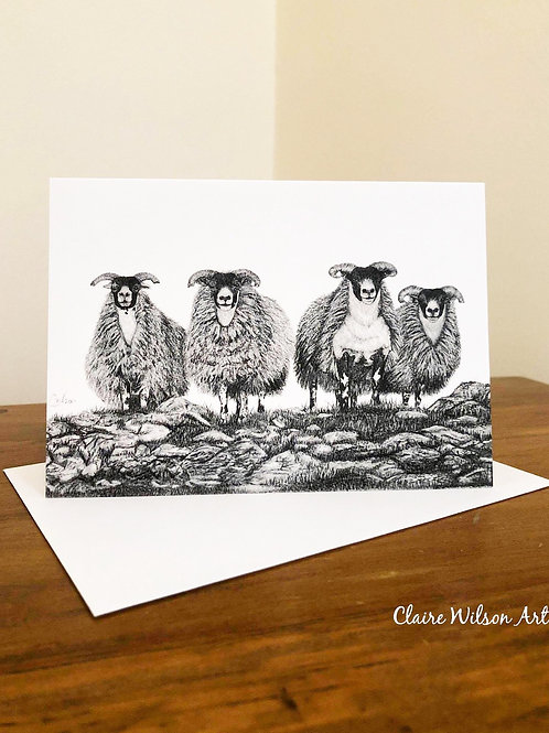 'SCOTCH ON THE ROCKS' BLANK GREETINGS CARDS