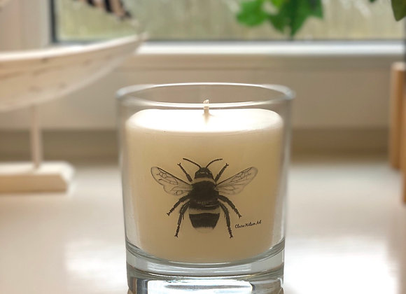 'THE BEES KNEES' ROUND CANDLE JAR IN BLACK OUD