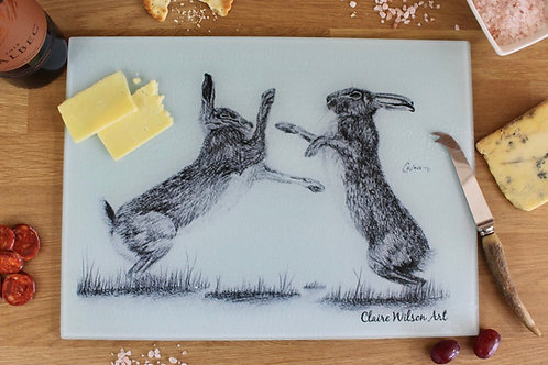 'HARE WE GO AGAIN' GLASS WORKTOP SAVER