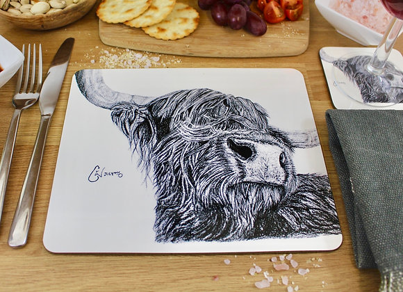 'SNOOTY COO' PLACEMAT