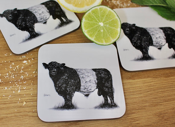 'BELTED GALLOWAY' PACK OF 4 COASTERS