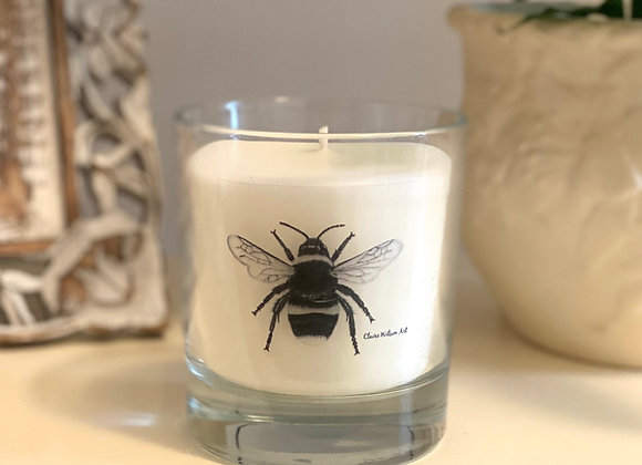 'THE BEES KNEES' ROUND CANDLE JAR IN ANGEL WISHES