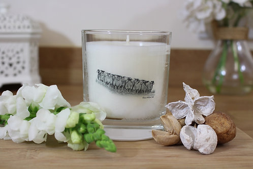 'THE GATHERING' ROUND CANDLE JAR IN ANGEL WISHES