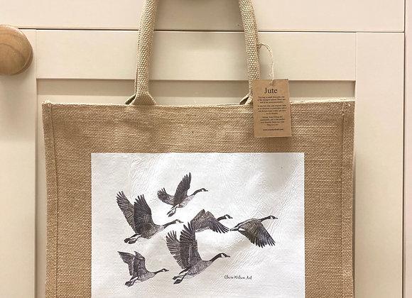 'FLY AWAY HOME' CLASSIC JUTE BAG