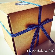 Claire Wilson Art 'Gift Box'