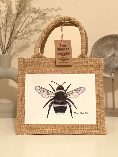 'THE BEES KNEES' MINI JUTE BAG