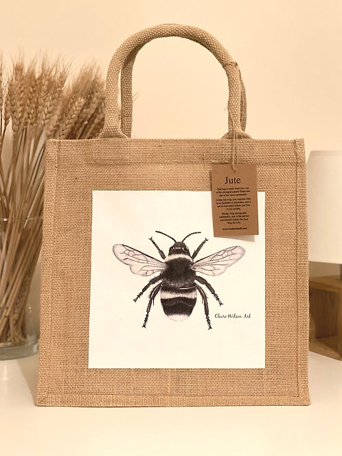 'THE BEES KNEES' MIDI JUTE BAG