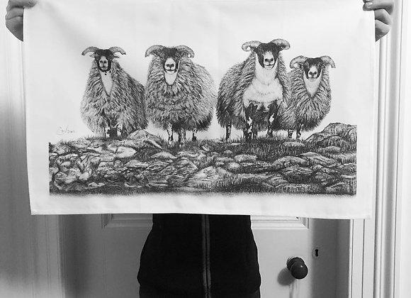 'SCOTCH ON THE ROCKS' TEA TOWEL