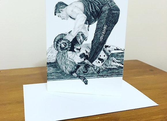 'THE HIGHLAND TRIM' BLANK GREETINGS CARDS